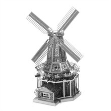 3D Puzzle Metal Earth World's Famous Building Holland windmill Laser Cut Model DIY Educational Jigsaw Toy for Kid