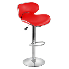 Best 2 Faux Leather Kitchen Breakfast Bar Stool Barstools Swivel Stools (Style C, Red)