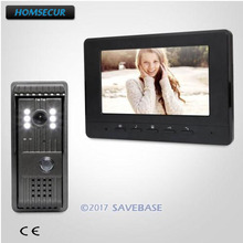 HOMSECUR 1 Monitor + 1 Camera 7inch Wired Video Door Entry Security Intercom with Video & Dual-way Audio Communication(China)