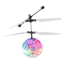 LED Magic Flying Ball Colorful Stage Lamp Helicopter Infrared Induction LED Flying Ball Flash Disco Kids Children Flying Toy(China)