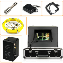 20M Sewer Pipe Inspection Camera System Fiberglass Cable with 7'' Digital Screen