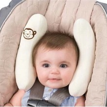 Baby Safe Car Seat Stroller Pillow Baby Newborn Kids Travel Sleeping Car Soft Cotton Pillow Cushion Head Neck Safety Protection(China)
