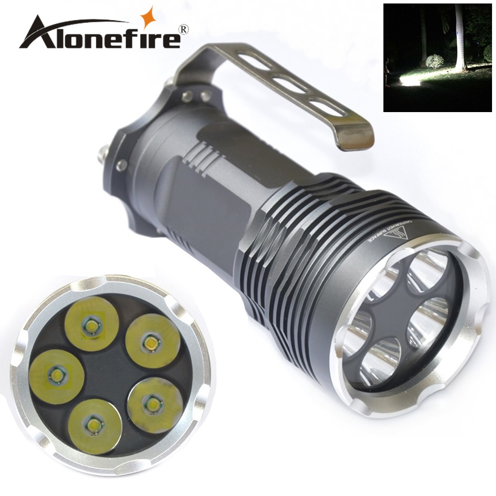 AloneFire 5T6 5XCREE XM-L T6 LED 18650 Flashlight Handheld Torch Camping Lamp Light H5<br>