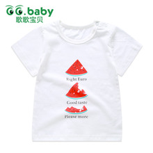 Winter White Shirt Baby Boy Summer Watermelon Tshirt Baby Tees Girl Tops Newborn Short Sleeve Cotton Baby Clothes Infant T-shirt(China)