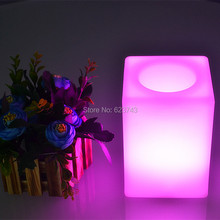 4pcs/lot Color changing rechargeable Touch control PE 10CM Cube led night light of luminaria table lamp for baby children sleep