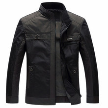Men Jackets Spring Autumn New Leisure Men's Jacket Thin Business Men Coat 4XL Zipper Black male Casual style Stand Collar jacket