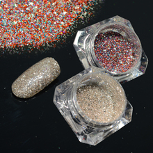 2Bottle/set Diamond Shining Nail Art Glitter Dust Mixed Color Sparkly Powder Nail Sequins Slice 3D DIY Manicure Tools LABG15,18