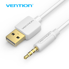 Vention 1m 3.5mm Jack to USB 2.0 Charger Data Cable M/M Audio Headphone Adapter Cord for Apple ipod shuffle 3rd 4th 5th 6th 7th(China)