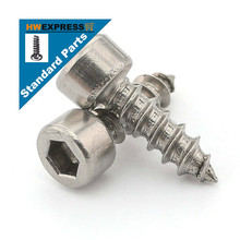 HWEXPRESS Standard 304 Stainless Steel Hexagonal Self-tapping Screws M4*25