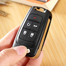Yetaha 5 Button Keyless Entry Remote Control Car Key Shell Case Replacement Key Fob Transmitter Clicker for CHEVROLET New Style