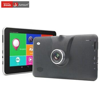 """Junsun nueva 7 """"Android 4.4 GPS Del Coche Navegación MT8127 FHD 1080 P Coche DVR Registrador de la Cámara de WiFi Bluetooth Quad-core gps Del Vehículo"""