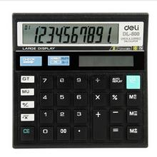 1 Piece Deli DL-500 calculator big button big screen desktop plastic buttons to check the number of computers(China)