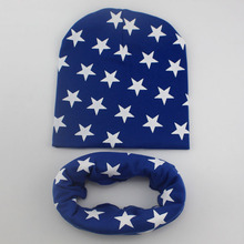 1 Set Winter Autumn Crochet Baby Hat Girl Boy Cap Cotton Scarf Beanie Star Infant knitted toddlers Children New(China)