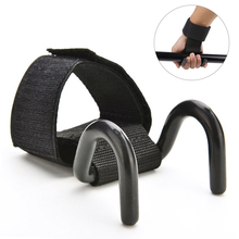 1pcs Adjustable Strong Steel Hook Grips Straps Weight Lifting Strength Training Gym Fitness Black Wrist Support Lift Straps