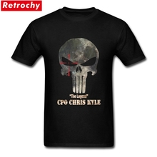 Latest Design punisher T Shirt Men Skull PP Mask Tee chris kyle T Shirt Family Short Sleeve Cotton 3XL Men's T-shirts(China)