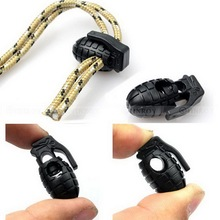 Shoelace Shoe Lace Grenade Buckle Stopper Rope Clamp Paracord Lock Camp Hike Outdoor Travel kit gear bushcraft Survive Cord Clip(China)