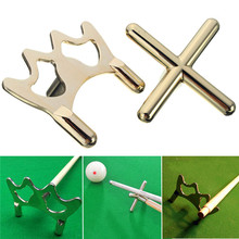 New Arrival Combo Metal Pool Snooker Billiards Table Cue Brass Cross & Spider Bridge Head Holder Rests(China)