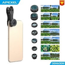 Buy APEXEL Camera Lens mobile phone Fisheye Wide Angle macro Lens CPL Kaleidoscope telephoto zoom Lens 7in1 iPhone SAMSUNG mi for $18.89 in AliExpress store