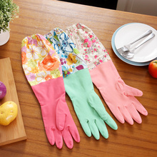 Durable Waterproof Household Glove Warm Dishwashing Glove Water Dust Stop Cleaning Rubber Glove