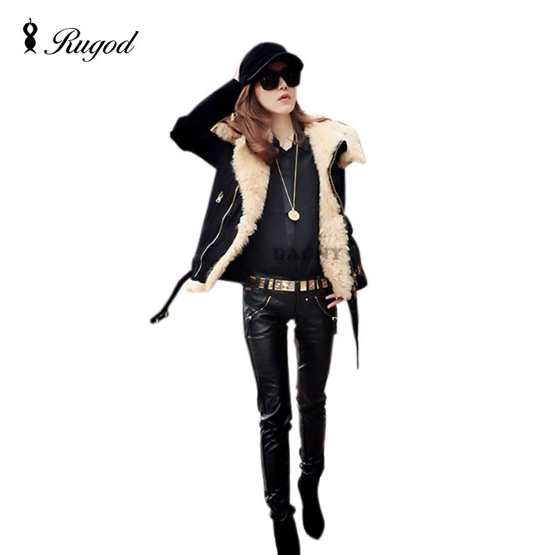 New 2017 Autumn and Winer motorcycle jacket berber fleece short design large lapel fur collar cotton-padded jacket outerwearÎäåæäà è àêñåññóàðû<br><br>
