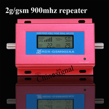 mini LCD display 2g gsm902aa mobile phone booster for home amplifier with power adaptor without antenna with red color