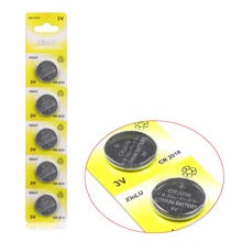 5pcs CR2016 LM2016 BR2016 DL2016 KCR2016 3V Button Cell Watch Coin lithium Battery For watch(China)