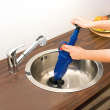 Home High Pressure Air Drain Blaster Pump Plunger Sink Pipe Clog Remover Toilets Bathroom Kitchen Cleaner Kit