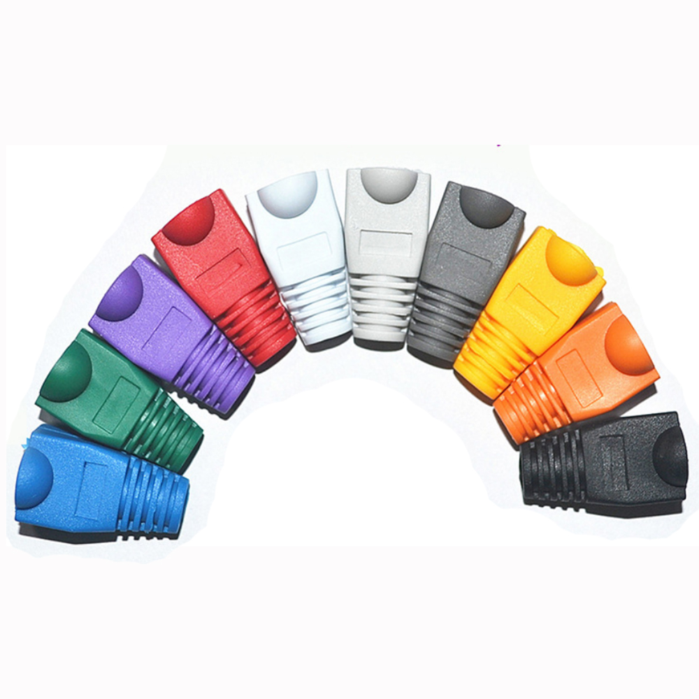 PC8025-rj45 caps cat5 cat5e cat6 network boots ethernet cable connector rj 45 sheath cat 6 protective sleeve multicolour