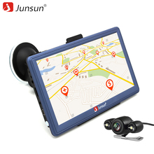 Junsun 7 inch Android Car GPS Navigation navigator MT8127A Bluetooth WIFI FM transmitter sat nav Automotive with Rear camera(China)