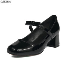 QZYERAI 2018 new autumn spring fashion single shoes sexy women's shoes low heel water drill square shoes size 34-43(China)