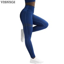 Buy VISNXGI Activewear High Waist Fitness Leggings Jeggings Women Pants Fashion Patchwork Workout Legging Stretch Slim Sportswear for $10.80 in AliExpress store