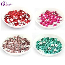 QIAO Many Color SS16 4mm Glass Material 1440pcs Round Rhinestone Crystal Sew On Stone Flatback 1 hole For Clothing Accessories(China)