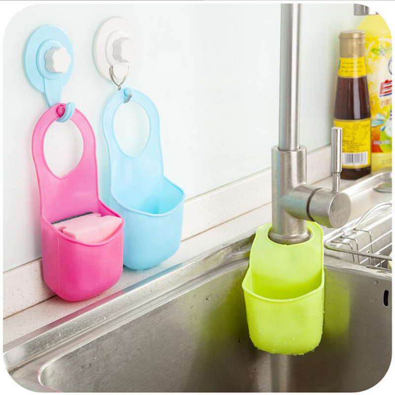 19*8.5CM Creative Sponge Storage Rack Basket Wash Cloth Or Toilet Soap Shelf Organizer Kitchen Gadgets Accessories(China)