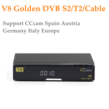 Openbox V8 Golden DVB-S2/ DVB-T2 DVB-C Satellite Receiver with 1 year Europe CCcam 4 Cline USB WIFI Free Shipping Decoder TV Box