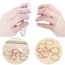 Creative Fashion 5 Pcs/Set Fashion Women Spiral Ring Joint Knuckle Nail Finger Rings Gift cocktail Ring Romanticparty