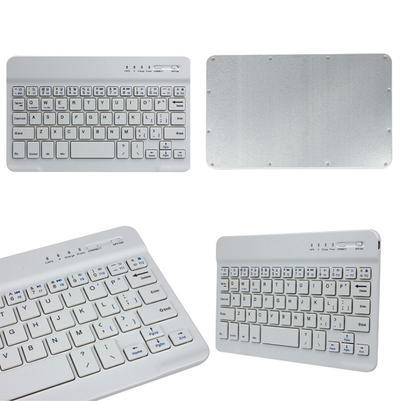 New Ultra Slim Aluminum Bluetooth Keyboard For IOS Android Windows PC Working Time 40 hours 59 keys Quality 2