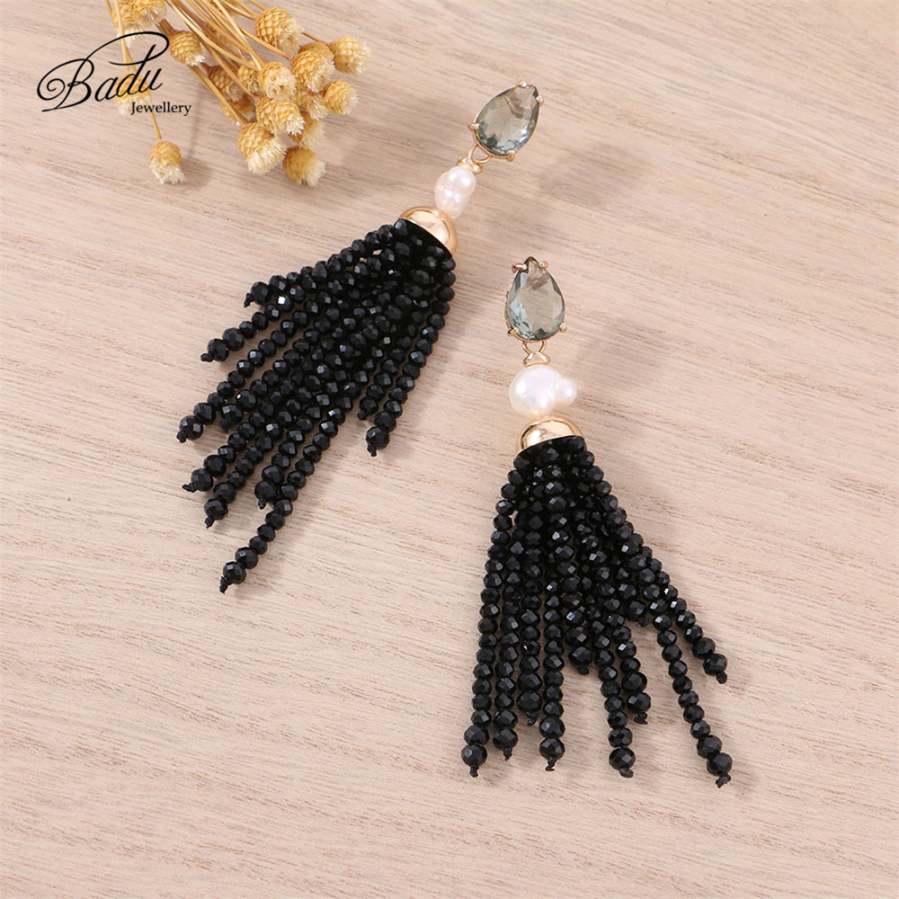 Fashion Women Crystal Long Tassel Ear Stud Drop Dangle Earrings Charms Party Hot