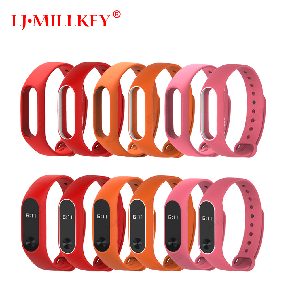Xiaomi Mi Band 2 Bracelet Strap Miband 2 Colorful Strap Wristband Replacement Smart Band Accessories Mi Band 2 Silicone