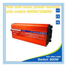 pure sine wave power inverter 800W DC24V to AC220V inverter,solar power inverter with auto transfer switch,car inverter