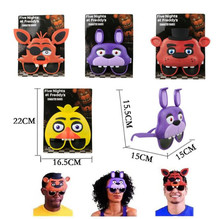 4pcs/set Five Nights At Freddy's Mask Glasses Figure FNAF freddy foxy bonnie chica figure toys party supplies kids toys(China)