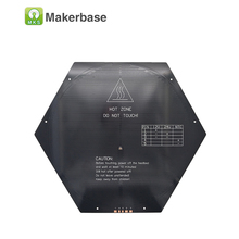 3D printing table PCB MK3 heat bed Delta rostock hexagon round hot bed aluminium bed reprap table custom size heated beds