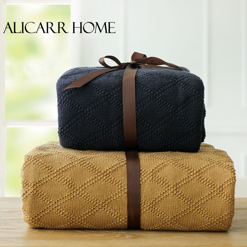 100% Cotton Blanket Summer Air Conditioning blanket  Knitted Blanket  120X180CM Three Colors<br><br>Aliexpress