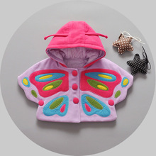 New 2016 Fashion Combi Baby Coats Girl's Smocks Outwear lovely butterfly cloak Jumpers mantle Children's clothing Poncho Cape(China)