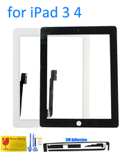 ALANGDO for iPad 3 4 iPad3 A1416 A1430 A1403 iPad4 A1458 A1459 A1460 Apple Touch Screen Digitizer Glass Panel Replacement Sensor