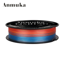Anmuka 100M Fishing PELine Red/Green/Grey/Yellow/Blue Braided Fishing Line Available 8LB-100LB PE Line(China)
