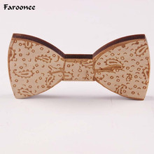 Faroonee Wooden Bowknot Bow Tie Men Male Wedding Party Chinese Craving Wood Butterfly Neck Bow Tie Gravata Christmas Gifts S5003