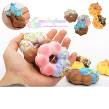 Kawaii Sprinkles Chocolate Donuts Squishy Jumbo Sweet Candy Bread Slow Rising Phone Straps Soft Charms Scented Kid Fun Toy Gift