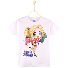 2017 Special Discount Kids T-shirt Top Cotton Suicide Squad Harley Quinn Rick Flag Children T Shirts Girl Tops Tee Boys Clothes