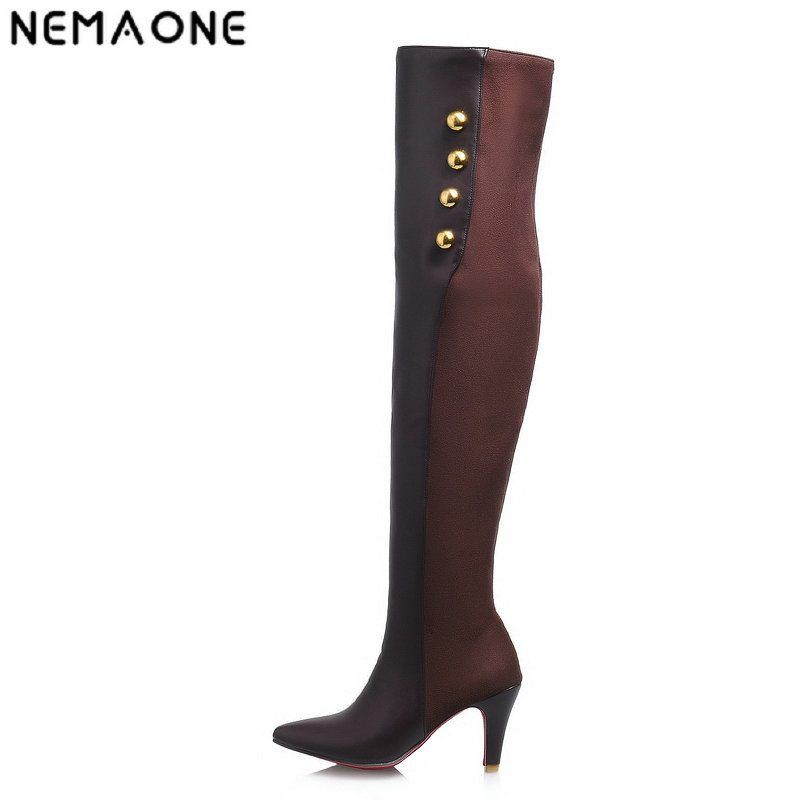 NEMAONE winter fashion sexy thin high-heeled womens slim woman thigh boots over the knee boots ultra high heel long boots <br>