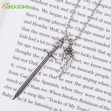 "8SEASONS New Fashion Vintage Necklace Ball Chain antique silver-color Cat Sword Flower Angel Wing Pendants 66.3cm(26 1/8""), 1 PC"